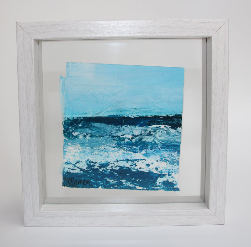 Acrylic original painting of a seascape Lyndsay Tarren-Leister
